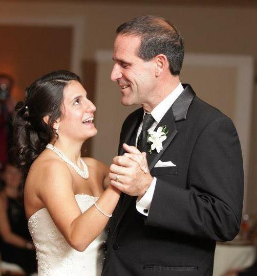 Julie and Dad wedding dance