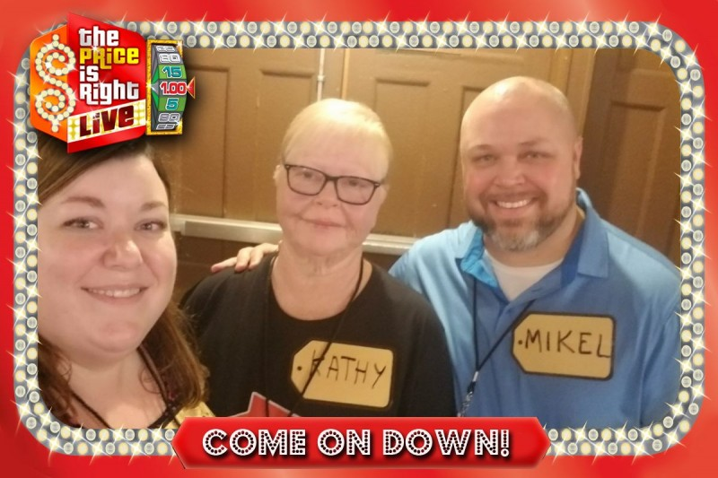 Price is Right live taping with Mikel's mom, Kathy