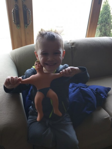 Daddy brought stretch armstrong back from work trip to England