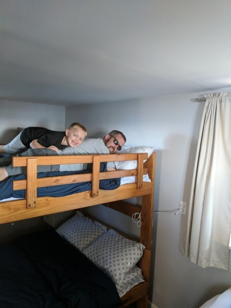 New bunk beds at grandma and grandpas cottage!