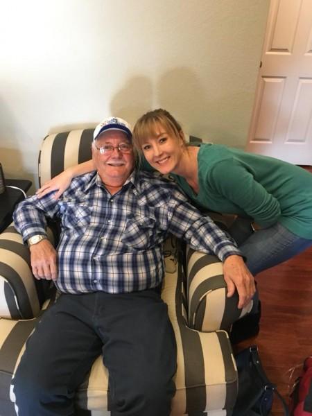 Tara and her grandpa.