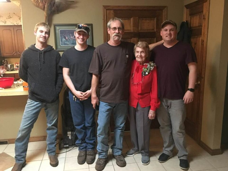 Fred's brother, nephew, Dad and grandma.