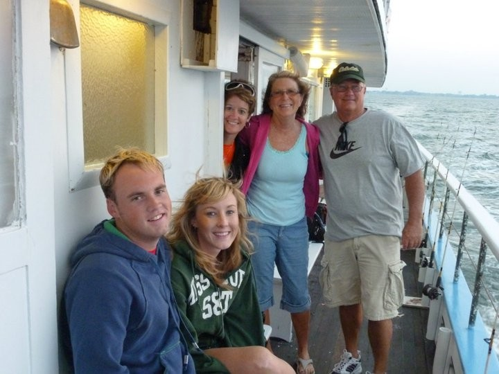 Deep sea fishing with friends in Virginia Beach.