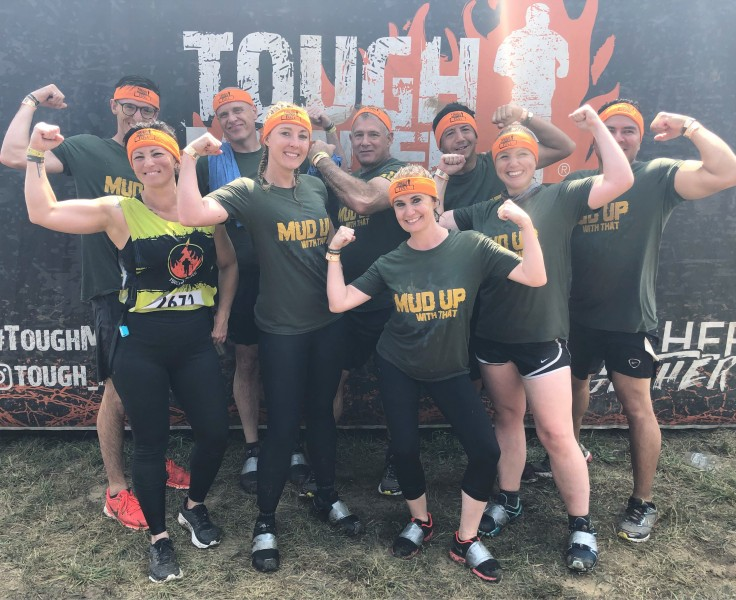 Tara and her Tough Mudder team.