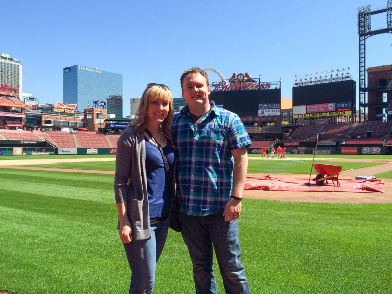 We took the tour of Busch Stadium in STL for Fred's birthday!