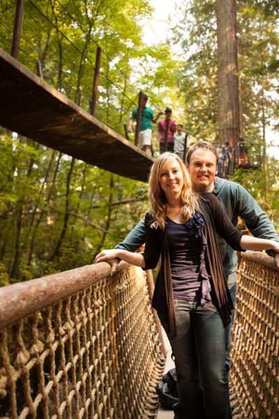 Us posing on the suspension bridge in Vancouver, Canada.