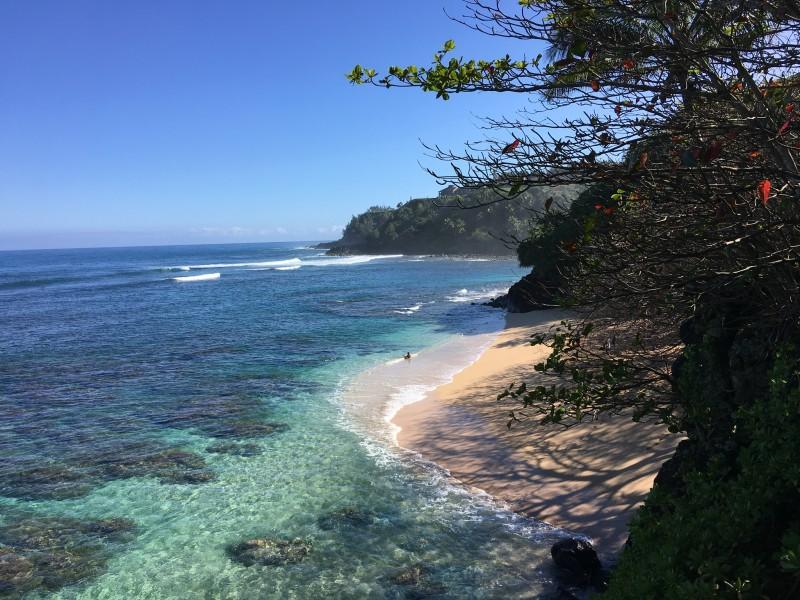 The beautiful Hideaway Beach located in Kauai.