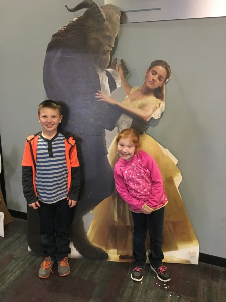 We took our niece and nephew to the movies to watch The Beauty and the Beast.