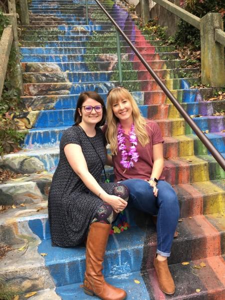 Tara and her friend, Kayla in Eureka Springs, Arkansas.