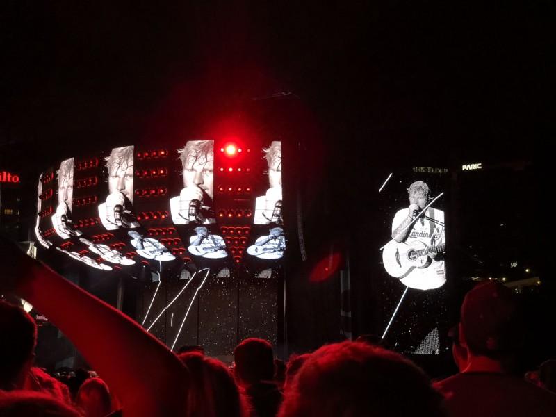 Ed Sheeran concert.