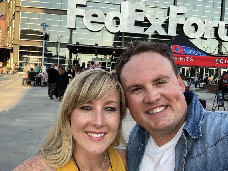 Quick selfie before seeing Justin Timberlake in concert in Memphis, TN.