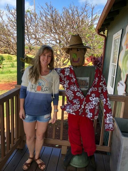 Tara at the Coffee Plantation in Kauai.