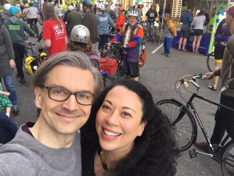 At a Community Bicycling Event this weekend!