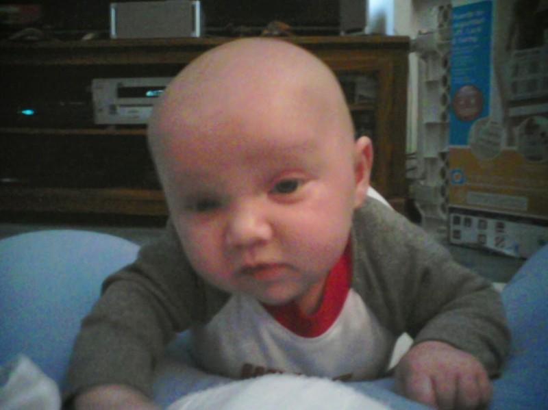 Baby push-ups!