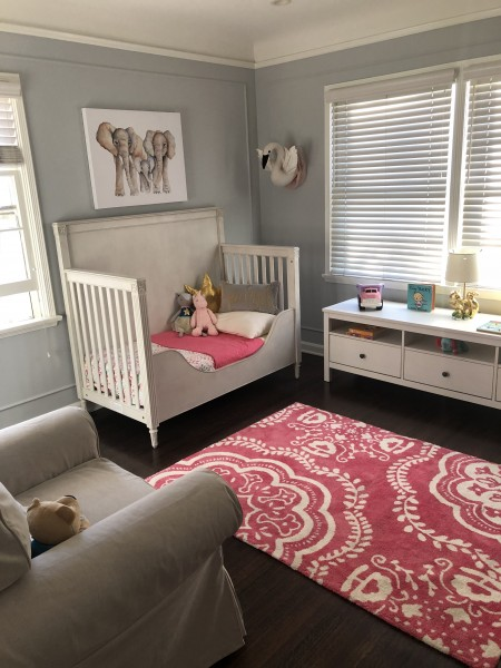 This will be the baby's room. It had Luna's decor when it was set up as a baby room.