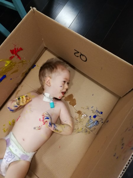 Painting in a box, lol!