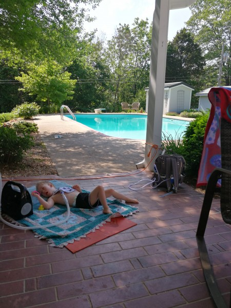 Hanging out Poolside at Nana and Papa's