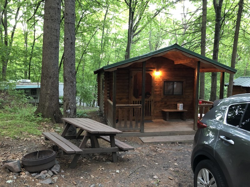 Cabin camping for our annual Memorial Day weekend camping trip
