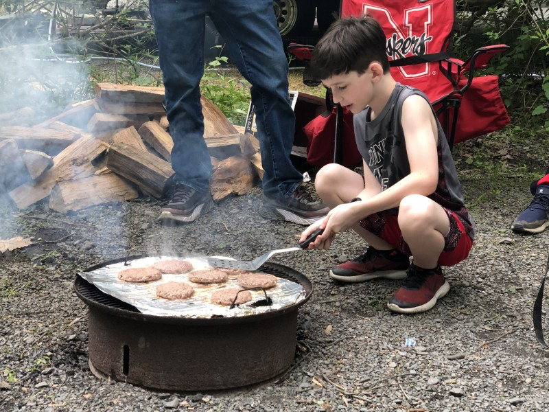 our nephew Robby cooking up some lunch