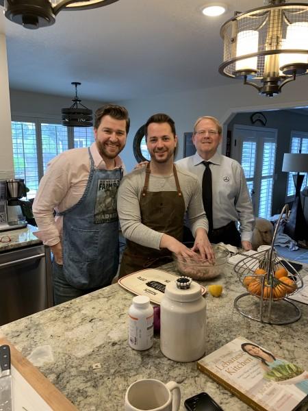 Prepping Easter Brunch with Brandon's Dad 'Pops'