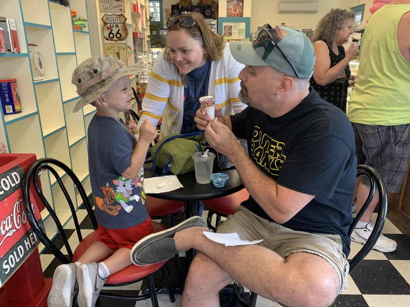 Parker loves ice cream