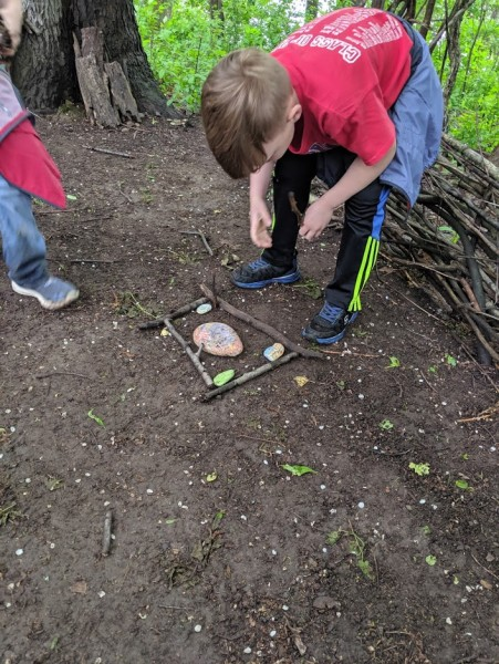 Making a house for a frog or insect