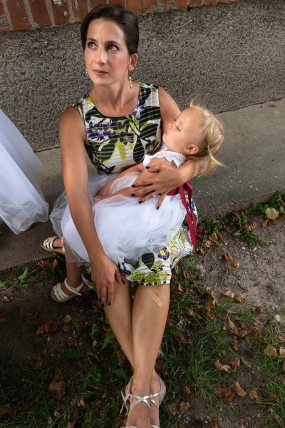 Nicole's sister Melissa with niece Emberlyn