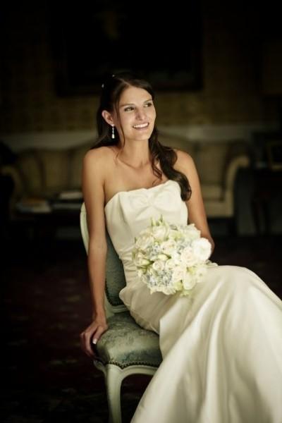 Sara on Wedding Day