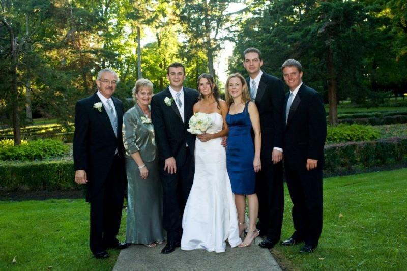 Sara's Family on Wedding Day