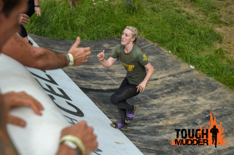 Running up the Everest wall during Tough Mudder 2019.
