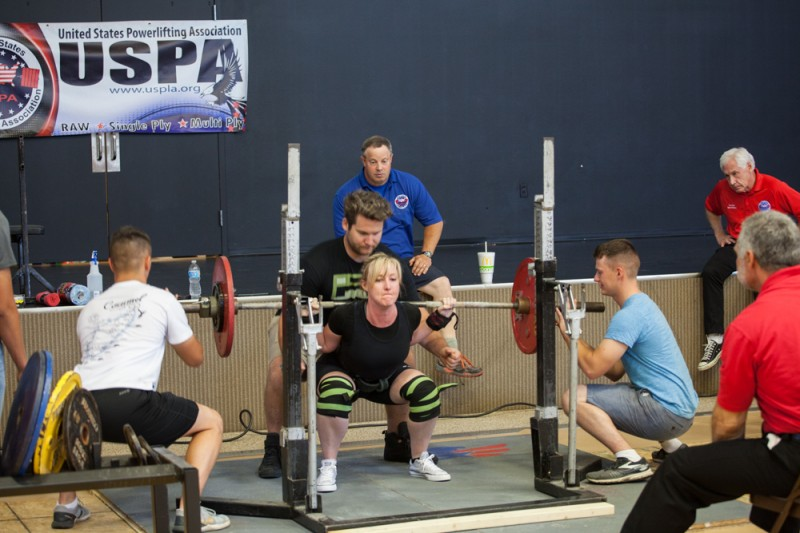 Tara's first powerlifting competition. She placed third.