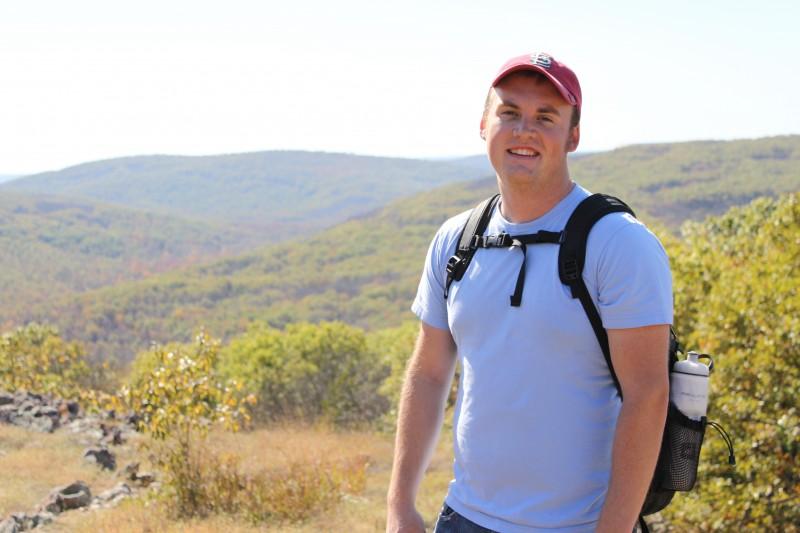 Fred hiking the Taum Saulk mountain.
