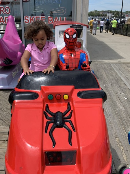 Riding with Spiderman
