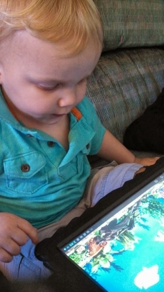 Playing on tablet