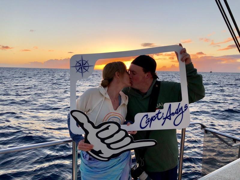 Sunset dinner cruise in Kauai