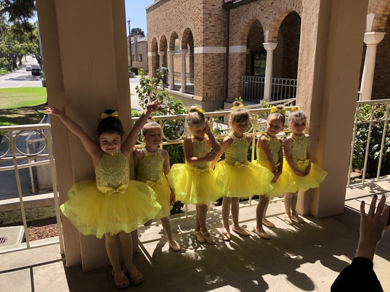 Hanging out with her friends before the performance. No nerves, just utter excitement.