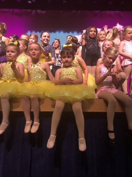 Luna wanted to take front and center when all the dancers came back on stage after the recital.