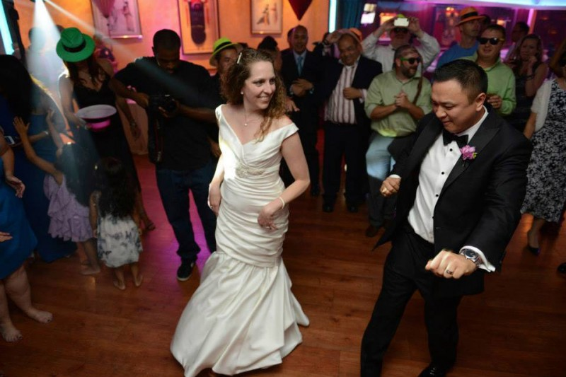 Dancing at our wedding reception.