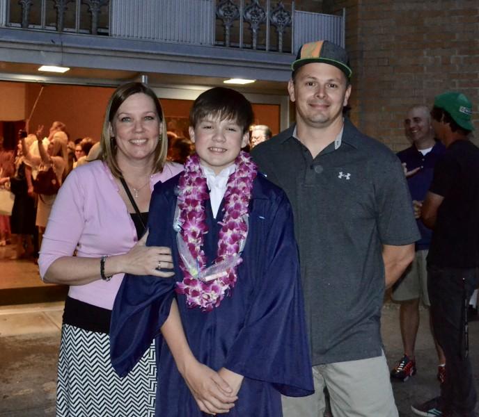 Chance's 8th grade graduation