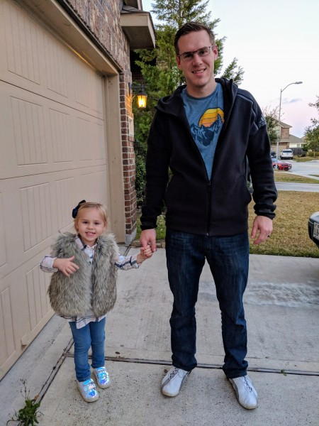 Adam taking Everly on a daddy daughter date night.