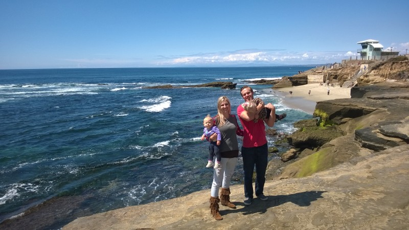 Here we are at the Aquarium in La Jolla. Emberlyn and Everly are younger in this picture.