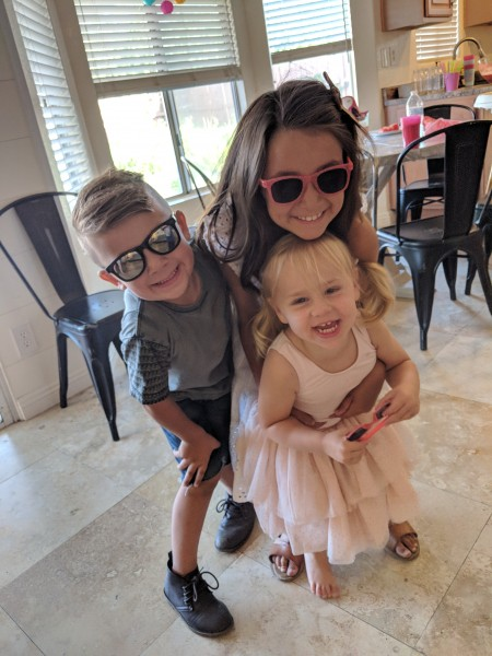 Cousin Smith and Cousin Saylor with Everly.