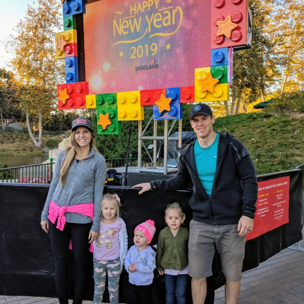 A picture of us at Lego Land in CA.