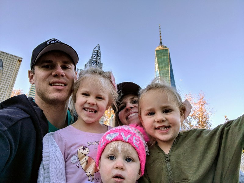 A family selfie at Lego Land.