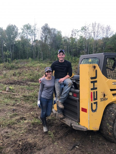 Working on our land together!