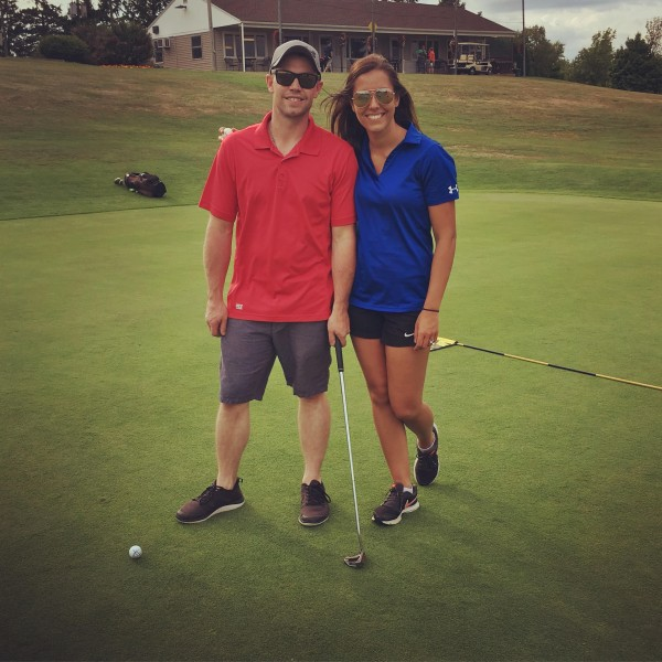 Golfing! We are horrible but always have so much fun!