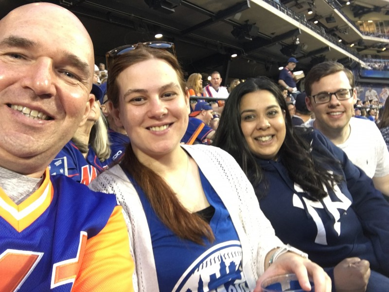 Our cousins at a Mets Yankees game!