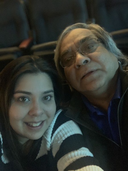 My Dad and I at the Elton John concert! We love music!