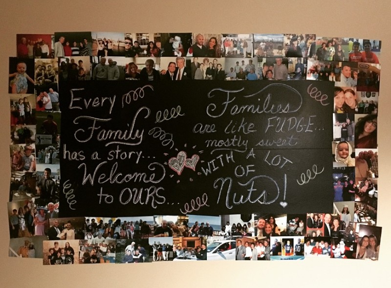 Our chalk art board is changed with each holiday or family event! We all love looking at pics old and new!