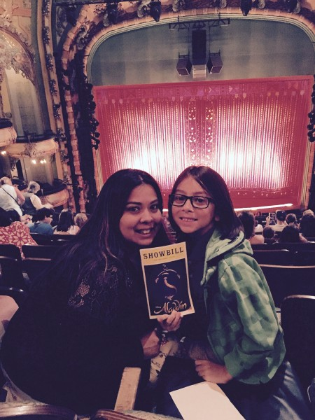 We try and see one Broadway show a year...it was Aladdin this year!